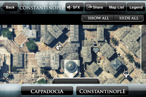 Screenshot Assassin's Creed Revelations Collectibles Map by Prima